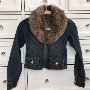 DKNY Kids Fur Denim Jacket!